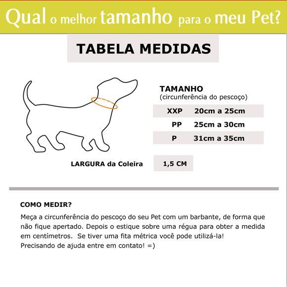 Coleira Identificação Personalizada Cachorro - Largura 1,5cm - XXP / PP / P - Refletiva  - PetPatuá | Coleiras e Tags para Identificação