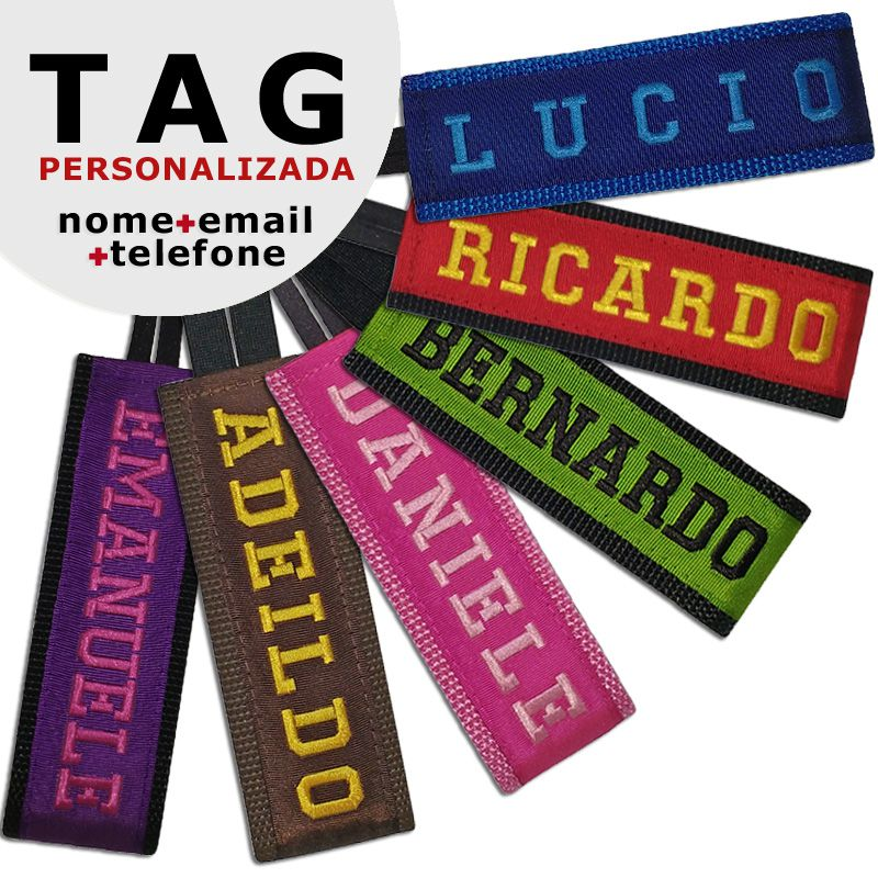 TAG Identificadora Personalizada para Mala Viagem  - PetPatuá | Coleiras e Tags para Identificação