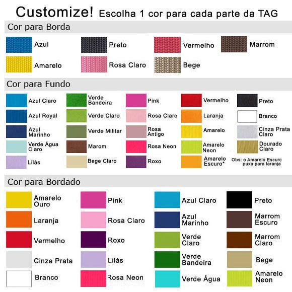 TAG Identificadora Personalizada para Mala Viagem  - PetPatuá | Coleiras de Identificação