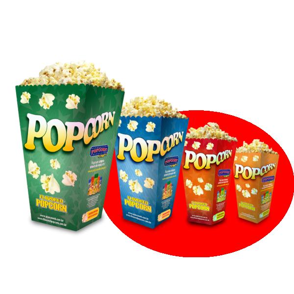 Embalagem Cinema Popcorn BOX MEGA (Tamanho família) - Pacote c/ 25 unidades