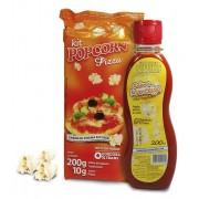 Pipoca Tradicional + Tempero Pizza + Óleo sabor Manteiga p/ Pipoqueira