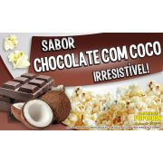 Caramelos p/ Pipoqueiras de Cinema - Chocolate c/ Coco - Pct 1kg
