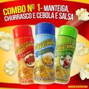 Combo Popcorn  nº 1 - 03 Sabores - Cebola e Salsa, Churrasco e Manteiga