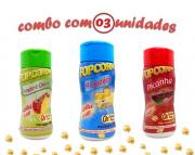 Combo Popcorn - 03 Sabores - 4 Queijos, Picanha e Tomate e Queijo