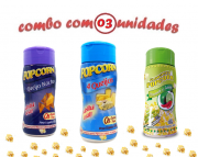 Combo Popcorn - 03 Sabores - 4 Queijos, Pimenta e Limão e Queijo Nacho