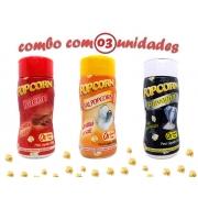 Combo Popcorn - 03 Sabores - Bacon, Flavapop Manteiga e Sal Popcorn