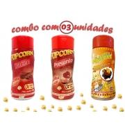 Combo Popcorn - 03 Sabores - Bacon, Presunto e Molho Mexicano