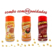 Combo Popcorn - 03 Sabores - Calabresa, Frango Assado e Pizza
