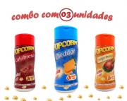 Combo Popcorn - 03 Sabores - Cheddar, Calabresa e Frango Assado