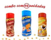 Combo Popcorn - 03 Sabores - Cheddar, Presunto e Molho Mexicano
