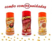 Combo Popcorn - 03 Sabores - Churrasco, Frango Assado e Pizza