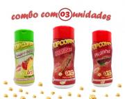 Combo Popcorn - 03 Sabores - Churrasco, Picanha e Tomate e Queijo