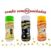Combo Popcorn - 03 Sabores - Ervas Finas, Flavapop Manteiga e Sal Popcorn