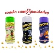 Combo Popcorn - 03 Sabores - Ervas Finas, Sal do Himalaia e Flavapop Manteiga