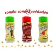 Combo Popcorn - 03 Sabores - Ervas Finas, Tomate e Queijo e Calabresa