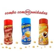 Combo Popcorn - 03 Sabores - Manteiga, Presunto e Molho Mexicano