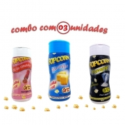 Combo Popcorn - 03 Sabores - Manteiga, Sal do Himalaia e Flavapop Manteiga