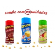Combo Popcorn - 03 Sabores - Manteiga, Tomate e Queijo e Calabresa