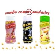 Combo Popcorn - 03 Sabores - Parmesão e Alho, Sal do Himalaia e Flavapop Manteiga