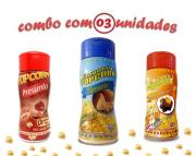 Combo Popcorn - 03 Sabores - Parmesão, Presunto e Molho Mexicano