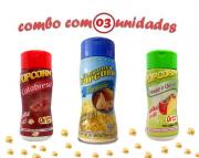 Combo Popcorn - 03 Sabores - Parmesão, Tomate e Queijo e Calabresa