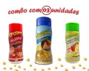 Combo Popcorn nº4 - 3 sabores - Parmesão, Picanha, Tomate e Queijo