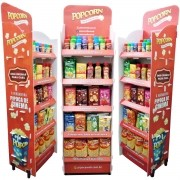 Display expositor com produtos Popcorn p/ Revendas - Na compra dos produtos leve o Display  Grátis - Bonificado