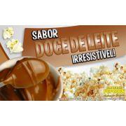 Caramelos para fazer Pipoca Doce sabor Doce de Leite - Pipoqueiras de Cinema - Pacote de 1kg