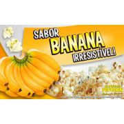 Caramelos  e Sabores p/ Pipoca Doce - sabor Banana - Pct 1kg