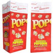 Embalagens Para Viagem -  sacos p/ Pipoca SOS - POP (Médio) - Pacote c/ 25 - 100 - 500 un