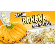 Sabores p/ caramelizar Pipoca Doce - Banana - Pct 1kg