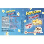 Tempero Pipoca Popcorn Cinema  - Sabor 4 Queijos - 1kg