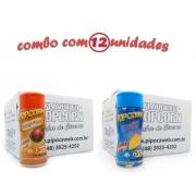 TEMPEROS P/ PIPOCA - CAIXA 12 FRASCOS - 6 FRANGO ASSADO - 6 QUEIJO