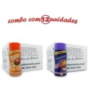 TEMPEROS P/ PIPOCA - CAIXA 12 FRASCOS - 6 FRANGO ASSADO - 6 QUEIJO NACHO