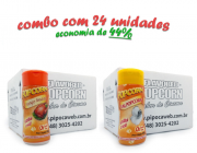 TEMPEROS P/ PIPOCA - CAIXA 24 FRASCOS - 12 FRANGO ASSADO - 12 SAL POPCORN