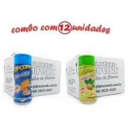TEMPEROS P/ PIPOCA - Cx 12 FRASCOS - 6 CHEDDAR - 6 CEBOLA E SALSA