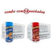 TEMPEROS P/ PIPOCA - Cx 12 FRASCOS - 6 CHEDDAR - 6 CHURRASCO
