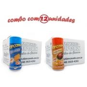 TEMPEROS P/ PIPOCA - Cx 12 FRASCOS - 6 CHEDDAR - 6 FRANGO ASSADO