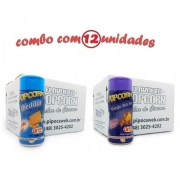 TEMPEROS P/ PIPOCA - Cx 12 FRASCOS - 6 CHEDDAR - 6 QUEIJO NACHO