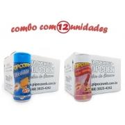 TEMPEROS P/ PIPOCA - Cx 12 FRASCOS - 6 CHEDDAR - 6 SAL DO HIMALAIA
