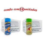 TEMPEROS P/ PIPOCA - Cx 12 FRASCOS - 6 CHEDDAR - 6 TOMATE E QUEIJO