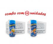 TEMPEROS P/ PIPOCA - Cx 12 FRASCOS - 6 MANTEIGA - 6  CHEDDAR