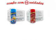 TEMPEROS P/ PIPOCA - Cx 12 FRASCOS - 6 MANTEIGA - 6  CHURRASCO