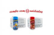 TEMPEROS P/ PIPOCA - Cx 12 FRASCOS - 6 MANTEIGA - 6  PICANHA