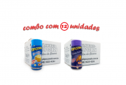 TEMPEROS P/ PIPOCA - Cx 12 FRASCOS - 6 MANTEIGA - 6 QUEIJO NACHO