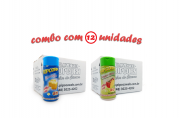 TEMPEROS P/ PIPOCA - Cx 12 FRASCOS - 6 MANTEIGA - 6  TOMATE E QUEIJO
