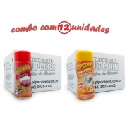 TEMPEROS P/ PIPOCA - Cx 12 FRASCOS - 6 PRESUNTO -  6 SAL POPCORN
