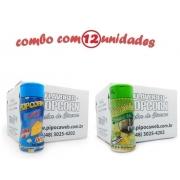 TEMPEROS P/ PIPOCA - Cx 12 FRASCOS - 6 QUEIJO - 6 PARMESÃO E ALHO