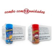 TEMPEROS P/ PIPOCA - Cx 12 FRASCOS - 6 QUEIJO - 6 PRESUNTO