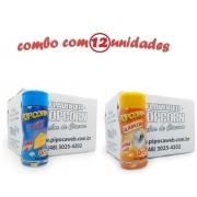 TEMPEROS P/ PIPOCA - Cx 12 FRASCOS - 6 QUEIJO - 6 SAL POPCORN